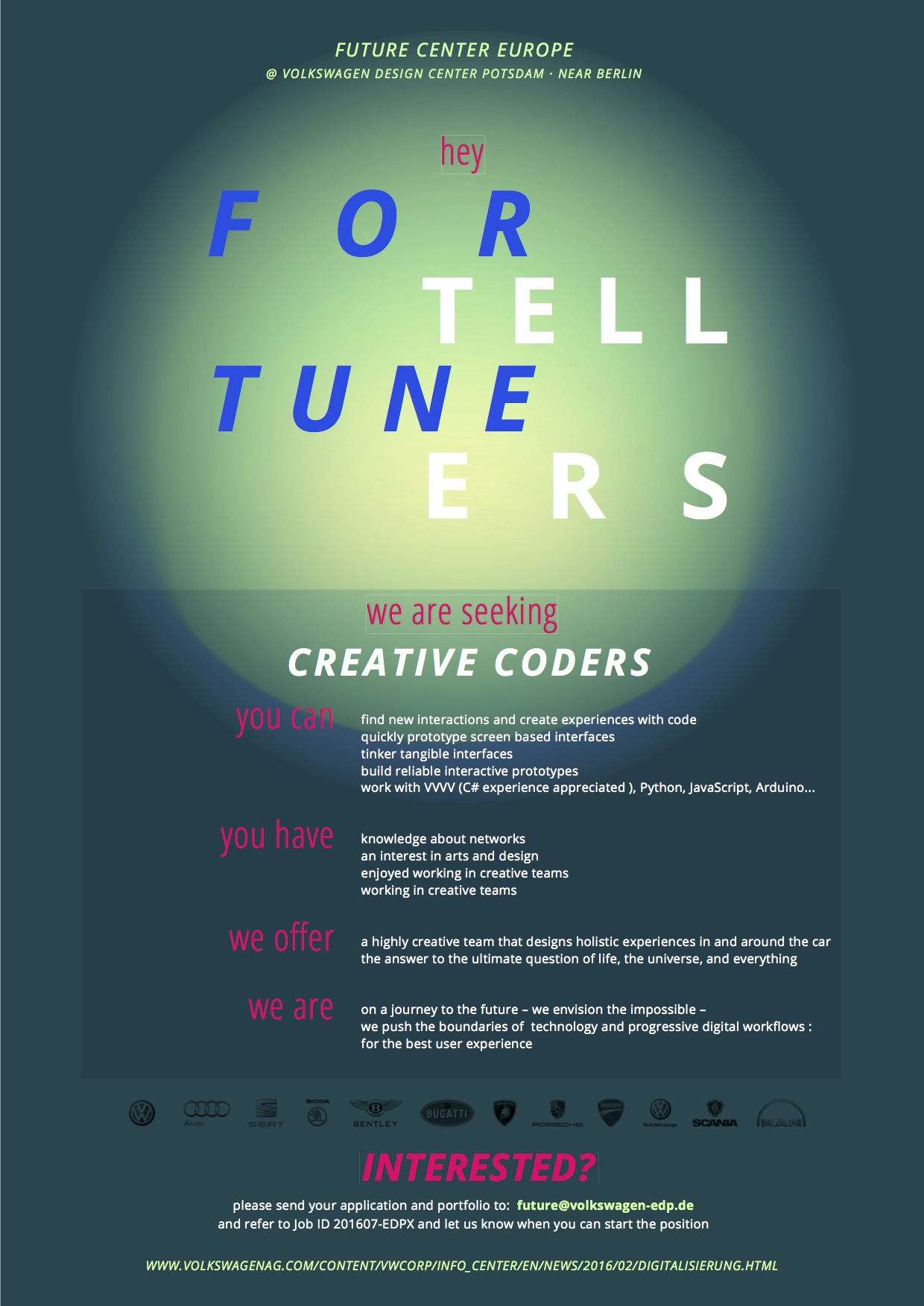 Creative Coders wanted