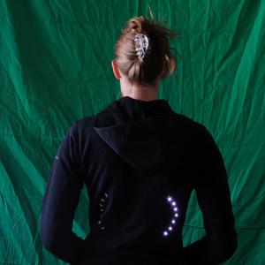 Indicators jacket with LED arrows