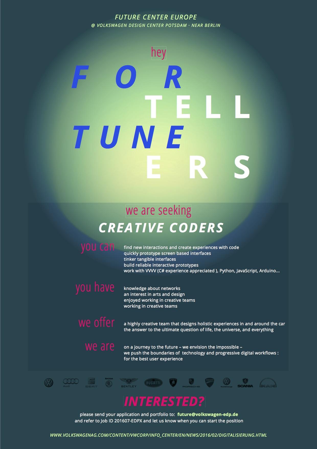 Creative Coders wanted
