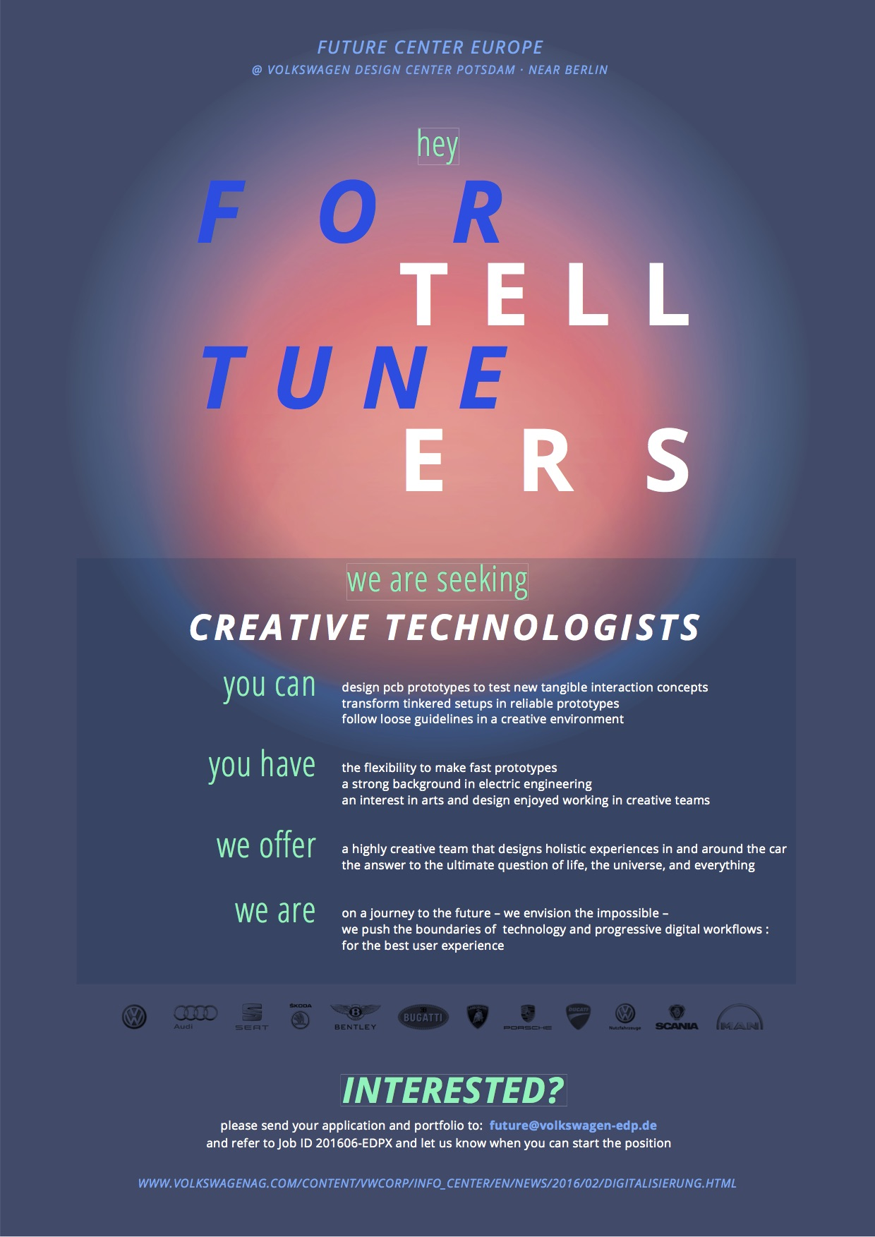 Creative Technologists wanted