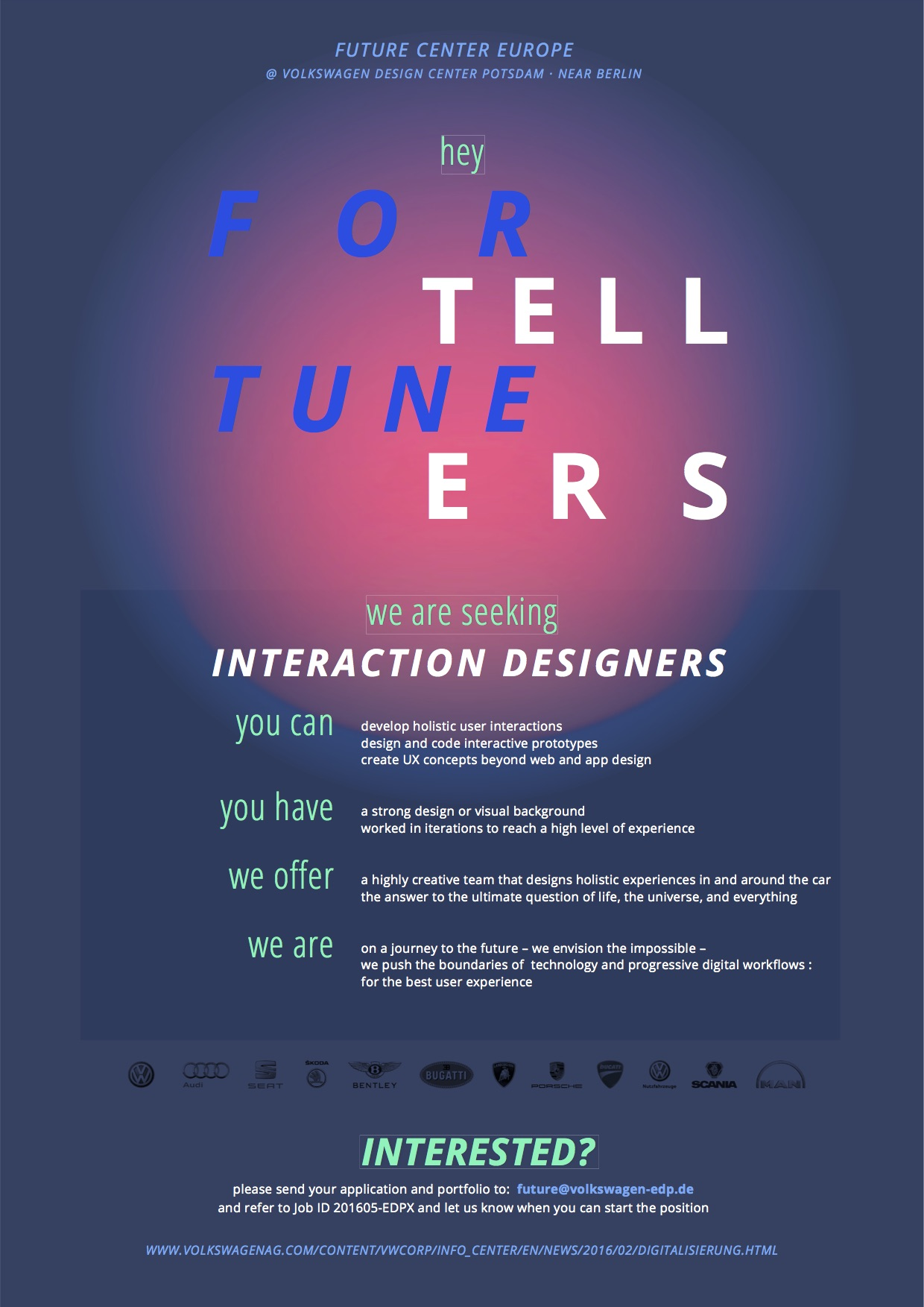 Interaction Designers wanted
