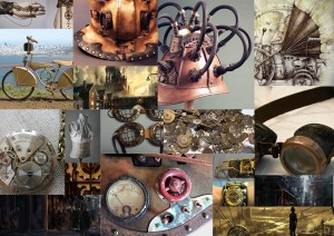 steampunk mood board